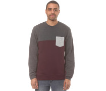 Block Pocket Crew - Sweatshirt - Grau