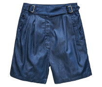 Bristum Pleated High Bermuda - Shorts - Blau