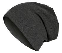 Rib 2in1 Mütze - Schwarz