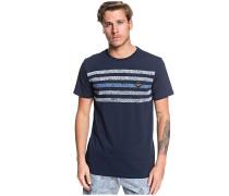 Contested Stripe - T-Shirt - Blau