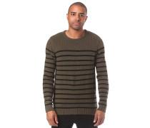 Edmonder Striped - Strickpullover - Grün