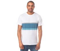 Yarn Dyed Stripe - T-Shirt - Weiß