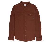All Day Flannel L/S - Hemd - Braun