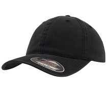 Garment Washed Cotton Dad Cap - Schwarz