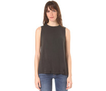 Sleeveless A-Line With Embro Sea - Top - Schwarz