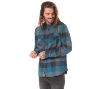 Box Flannel - Hemd - Blau