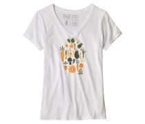 Harvest Haul Organic V-Neck - T-Shirt - Weiß