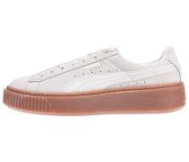 Suede Platform Bubble - Sneaker - Beige