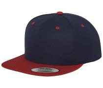 Classic 2-Tone Snapback Cap - Blau