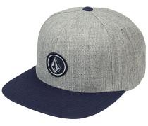 Quarter Twill Snapback Cap - Grau