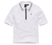 Slim 1/2 Slv - Polohemd - Weiß