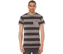 Christoph Washed Stripe - T-Shirt - Grau