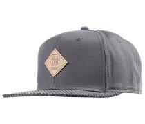 6P SB Woven Bast Snapback Cap - Grau