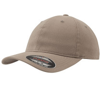 Garment Washed Cotton Dad Cap - Beige