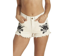 Just Me Emroidery - Shorts - Beige