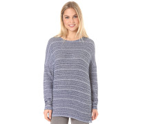 Lived In Go Crew - Strickpullover - Blau