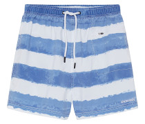 Badehose Used-Look - Boardshorts - Blau