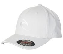 Tepan Curve Peak - Flexfit Cap - Weiß