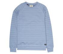 Die Cut Stripe Crew - Sweatshirt - Blau