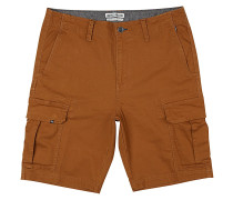 Scheme Stretch - Cargo Shorts - Braun
