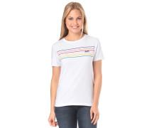 Party Stripe Patch - T-Shirt - Weiß