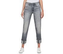 Lanc 3D High Straight - Jeans - Grau