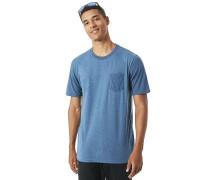 50- Solid Pocket - T-Shirt - Blau