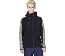 Colourblock - Fleecejacke - Schwarz