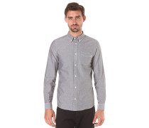Button Down Pocket L/S - Hemd - Grau