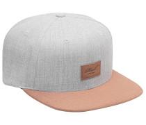 Suede Snapback Cap - Grau