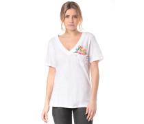 Overgrown Perfect V Neck - T-Shirt - Weiß
