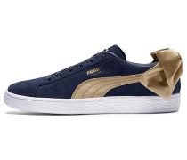 Suede Bow Varsity - Sneaker - Blau