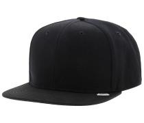 Tiny Label Snapback Cap - Schwarz