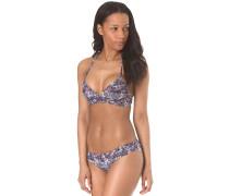 Print Crossover - Bikini Set - Blau
