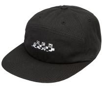 Broken Check Snapback Cap - Schwarz