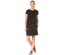 Printed Jersey - Kleid - Schwarz