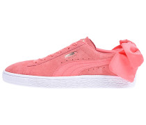 Suede Bow - Sneaker - Pink