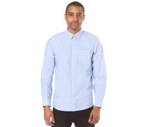 Button Down Pocket L/S - Hemd - Blau
