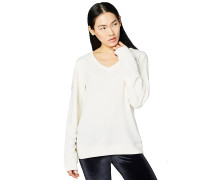 Love-Print - Sweatshirt - Weiß