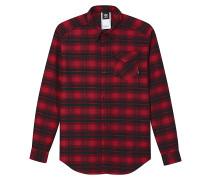 Stretch Flannel - Hemd - Rot