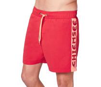 Badehose - Boardshorts - Rot