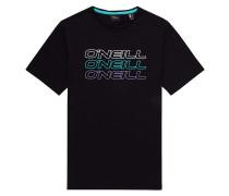 Triple Logo - T-Shirt - Schwarz