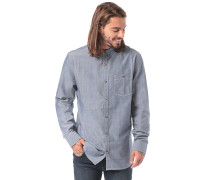 All Day Chambray L/S - Hemd - Blau