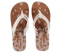 3 Strap Ditsy - Sandalen - Weiß