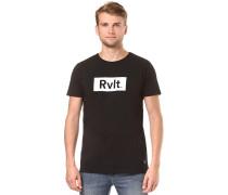 Print - T-Shirt - Schwarz