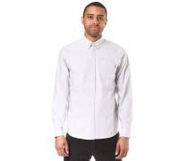 L/S Button Down Pocket - Hemd - Grau