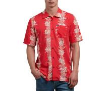 Palm Glitch - Hemd - Rot