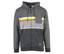 Yarn Dyed Stripe - Kapuzenjacke - Grau