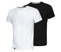 Round Neck Double Pack - T-Shirt - Schwarz