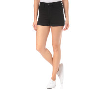 High Rise Cuff - Shorts - Schwarz